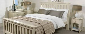 Maine New England Bed with Chest of Drawers and Bedside Table