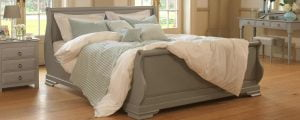 Painted Sleigh Bed with Bedroom Furniture
