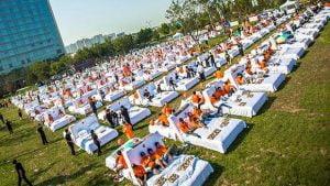Lots of Beds in a Field