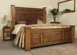 Traditional Super King-size Solid Wood Bed Frame