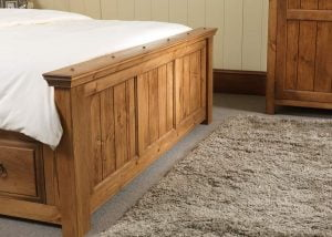 New England Panelled Bed Footboard