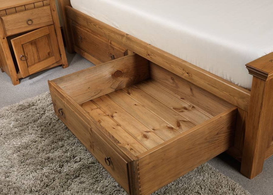 Large Solid Wood Storage Drawer