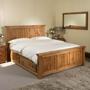 Kingsize Shaker Style Wooden Bed with Storage Drawers