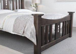 Mackintosh Bed Footboard in a Walnut Finish