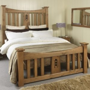 Solid Wood Mackintosh Bed Frame with Bedroom Furniture