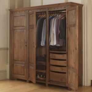 Handcrafted solid wood 3 door wardrobe