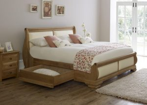 Super Kingsize Sleigh Bed with Underbed Storage Drawer
