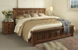 Squeak Free Bed Frame in Solid Wood
