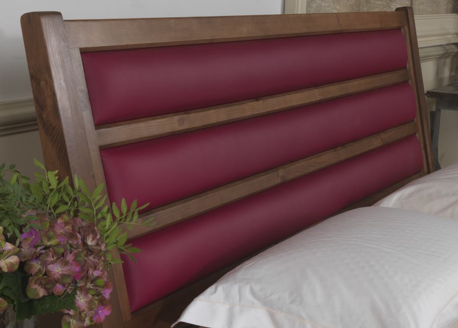 Modern Bed Frame Leather Headboard Detail