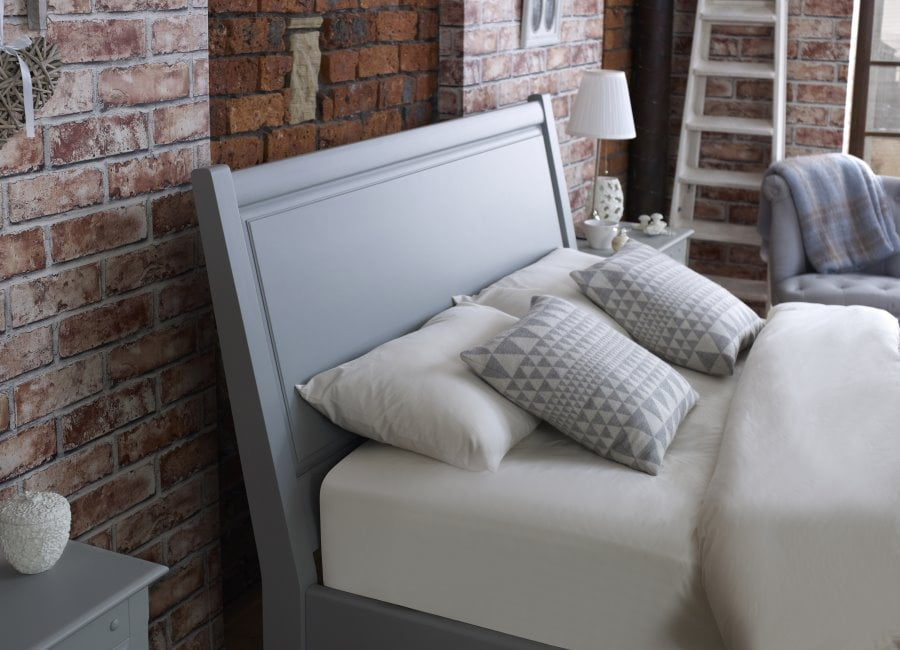 Solid Panel Painted Wooden Headboard