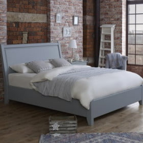 Painted Contemporary Solid Wood Bed Frame in Apartment