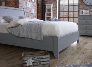 Metropolitan Bed Frame Painted Footboard Detail