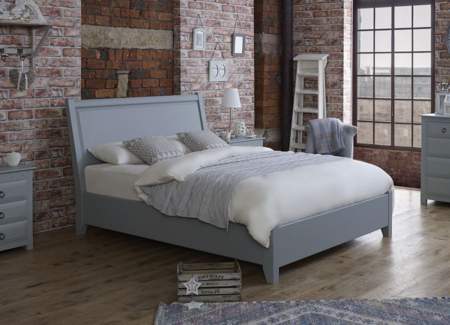 Painted Metropolitan Bed Frame with Wooden Furniture