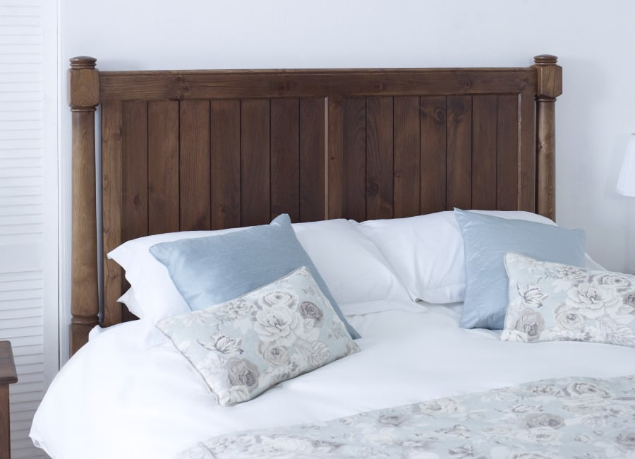 New England Bed Headboard in Natural Wood