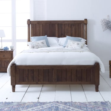 New England Solid Wood Bed Frame with Bedroom Furniture