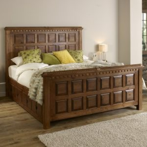 Traditional Solid Wooden Bed