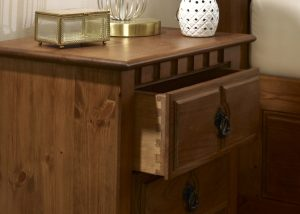 Solid Wood Bedside Cabinet Dovetail Detail