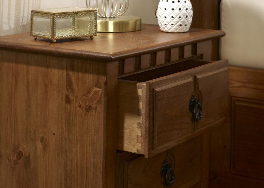 Solid Wood Bedside Cabinet Dovetail Detail