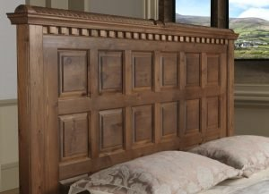 Solid Wood Panelled Headboard Detail