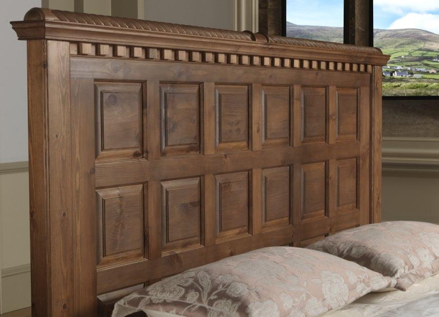 Solid Wood Panelled Headboard Detail