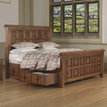 Emperor Size Solid Wood Bed with Storage