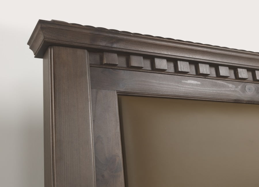 Traditional Wooden Bed Headboard Detail