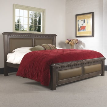 Traditional Wooden Bed in Walnut