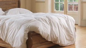 Luxury Duvet on Solid Wood Sleigh Bed