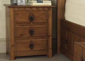 County Kerry 3 Door Solid Wood Bedside Cabinet