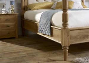 Solid Wood Pencil Bed Frame Detail