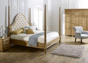 Solid Wood Colonial Style Bed