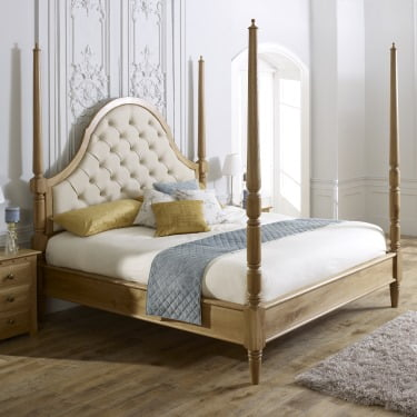 Solid Oak Pencil Bed
