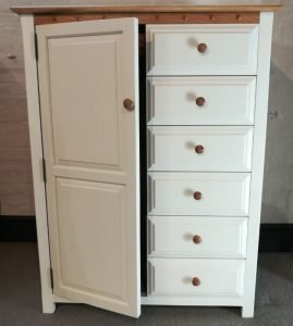 Combination Wardrobe with 6 Drawers
