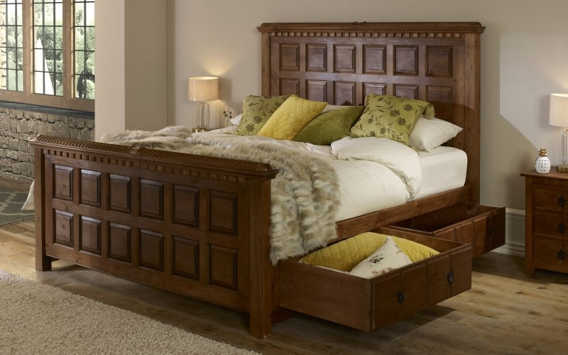 Wooden Beds With Storage Drawers Revival Beds
