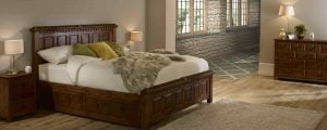 Traditional Solid Wood Bed with Bedroom Furniture