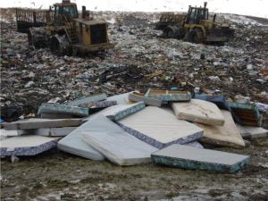 Old Mattresses On Landfill Site