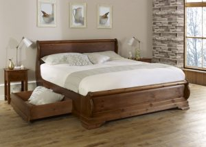 Super Kingsize Sleigh Bed with Storage