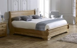 Super King-size Oak Sleigh Bed