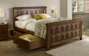 Bespoke Wooden Bed with Storage Drawers