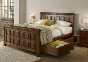 Traditional Bed with Storage Drawers