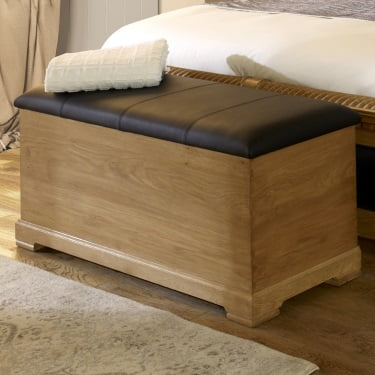 Solid Wood Ottoman