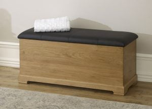 Oak Ottoman Closed