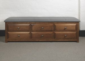 Solid Wood Blanket Chest with Drawers