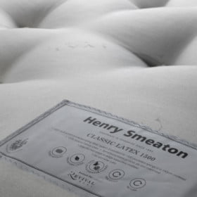 Henry Smeaton Classic Latex 1500 Mattress Label