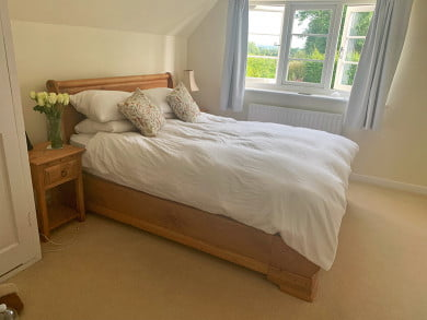 Traditional Solid Wood Sleigh Bed