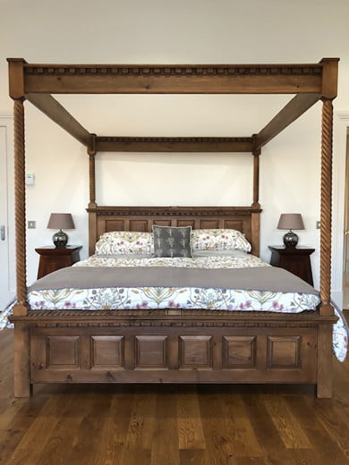 Handcrafted in the UK Four Poster Bed
